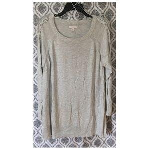 Lauren Conrad Braided Sleeve Sweater Tunic